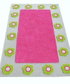 Covor Mina Border 3D Pink 80x150 cm