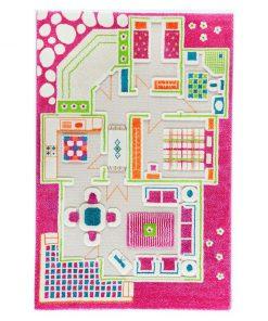 Covor de joaca Playhouse Middle 3D Pink 100x150 cm