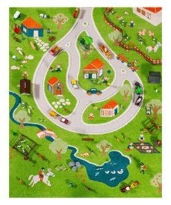Covor de joaca Farm 3D 134x180 cm
