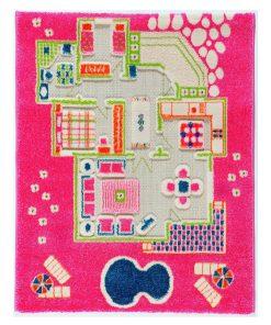 Covor de joaca Playhouse Pink 80x100 cm