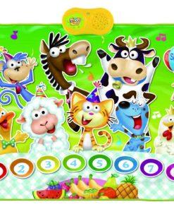 Covor muzical cu activitati Animal's Party 69x90 cm