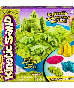 Set nisip Kinetic Sand Verde 454g