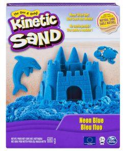 Nisip colorat Kinetic Sand, Albastru Neon, 680g