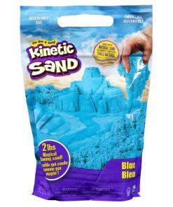 Rezerva nisip colorat Kinetic Sand, Albastru, 900g
