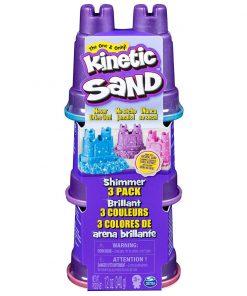 Set 3 rezerve nisip colorat stralucitor Kinetic Sand