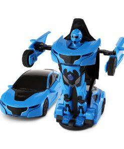 Masina cu sunete si lumini Rastar Transformer Die Cast, 1:32, Albastru