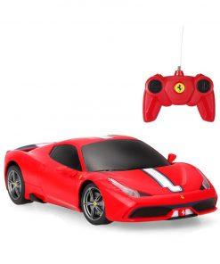 Masinuta cu telecomanda Rastar Ferrari 458, 1:24, Rosu