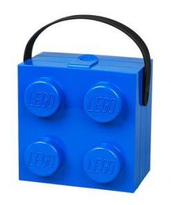 Cutie depozitare LEGO® cu mâner, albastru
