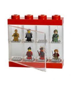 Cutie pentru 8 minifigurine LEGO®, alb - roșu