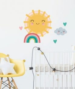 Set autocolante pentru perete Ambiance Sun, Clound and Rainbow