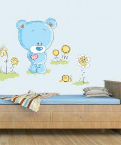 Stickere perete copii Ursuletul fericit - 78 x 60 cm