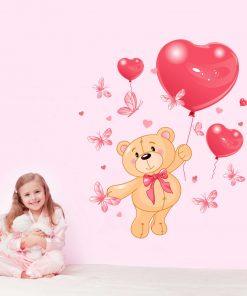 Stickere perete copii Ursuletul indragostit - 85 x 73 cm