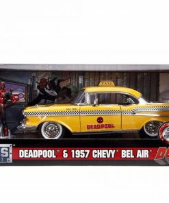 Yellow taxi chevy 1957 dead pool scara 1 la 24