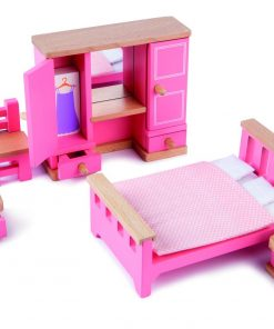Mobilier dormitor pentru casuta papusi