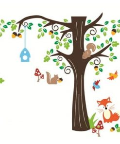 Set autocolante Ambiance Nut Tree And Fox