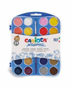 Set acuarele cu 24 culori pentru pictat.