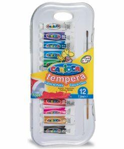 Acuarele Tempera vopsea superlavabila pentru colorat 12 buc cutie.
