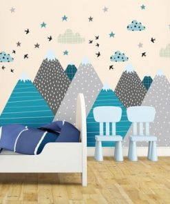 Autocolant Ambiance Giant Kid Sticker Scandinavian Mountains Janeka