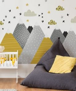 Autocolant Ambiance Giant Kid Sticker Scandinavian Mountains Henrika