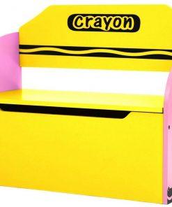 Bancuta pentru depozitare jucarii Pink Crayon