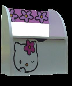 Bancuta pentru fetite cu lada de depozitare Kitty