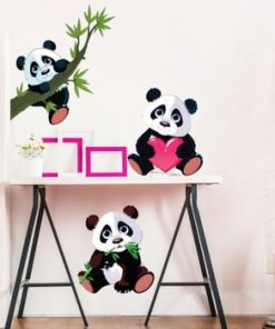Set 3 autocolante de perete Ambiance Panda