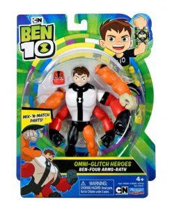 Figurina Ben 10 omni-adaptat Eroii Glitch: Ben Patru Brate Rath