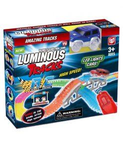 Circuit luminos cu masinuta si telecomanda Luminous Tracks, 98 piese