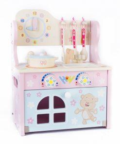 Mini Bucatarie din lemn pentru copii, cu accesorii.
