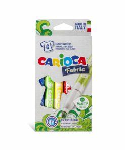 Carioci pentru haine Carioca Fabric 6 culori-cutie.