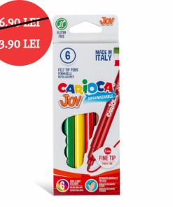 Carioca Joy - super lavabila, varf subtire Set 6 culori diferite