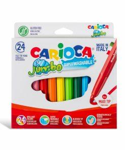 Carioca Jumbo - super lavabila, varf rotund Set 24 culori diferite.