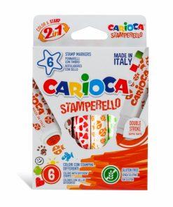 Carioca Stamperello varf dublu 6 buc set.