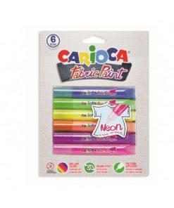 Vopsea pentru textile Carioca Fabric Paint - Neon.