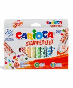 Carioca Stamperello varf dublu 12buc set.
