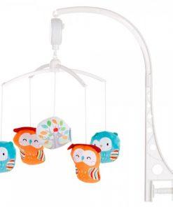 Carusel muzical pentru patut Chipolino Owls Home