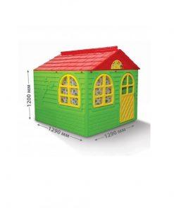 Casuta de joaca MyKids 02550/3 Green/Red - Mid