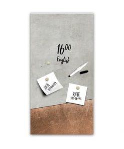 Tablă magnetică Styler Grey Copper, 30 x 60 cm