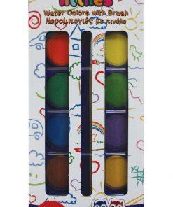Set de 12 acuarele cu pensula, The Littlies
