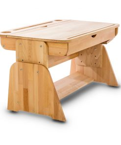 Masa de birou din lemn de fag, Ecodesk II, L90xl55h46 cm