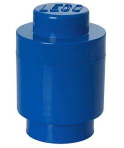Cutie depozitare rotundă LEGO®, albastru, ⌀ 12,5 cm