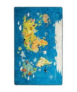 Covor copii World Map, 140 x 190 cm