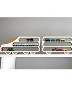 Set 2 rafturi Unlimited Design, locomotivă-vagon