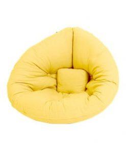 Fotoliu extensibil pentru copii Karup Design Mini Nido Yellow