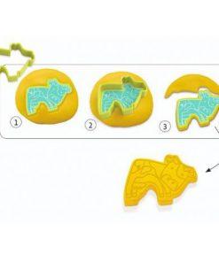 Forme pentru plastilină și ștampile Djeco
