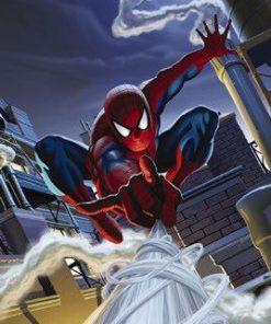 Fototapet 'Spiderman pe acoperis' - 184 x 127 cm