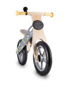 Lionelo - Bicicleta din lemn fara pedale Casper Grey