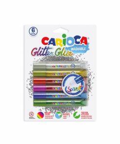 Lipici cu sclipici 6 buc set Carioca Glitter Glue Spark