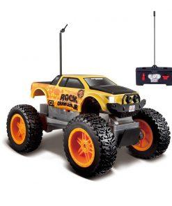 Masina cu telecomanda Maisto Rock Crawler Junior, Galben