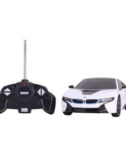 Masina cu telecomanda Rastar BMW i8, 1:18, Alb